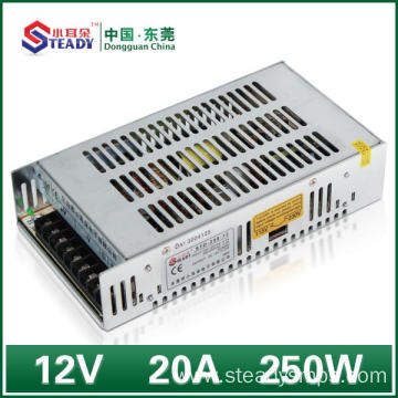 China for China Network Power Supply,Network Switch Power Supply,Network Controlled Power Supply Supplier Network Power Supply 12VDC 250W export to Indonesia Wholesale