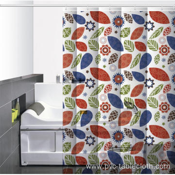 Waterproof Bathroom printed Shower Curtain Pole