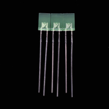2×5×7mm Green Rectangle Through-hole LED Lamps