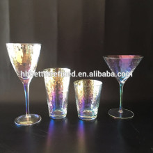 Blown luster stemware wine glass