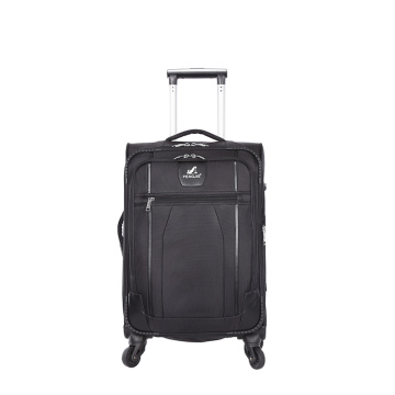 New unique polyester brown travel trolley luggages