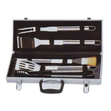 5pc BBQ set in aluminum box