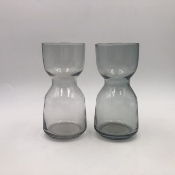 Custom Smoky Grey Mini Glass Vase