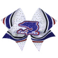 Glitter Fabric Dolphin Hair Bows For Women