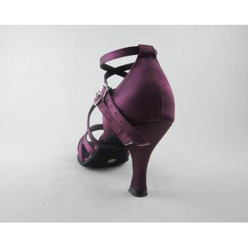 Satin salsa dancing shoes