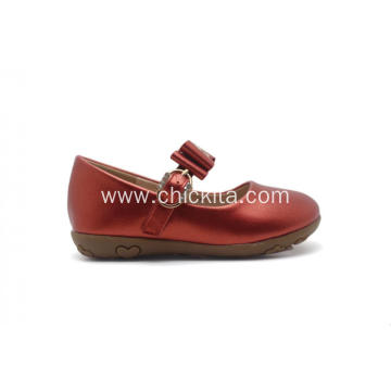 Hot selling attractive for Ballet Shoes Pearized PU With Bowknot TPR Princess shoe export to Indonesia Factories