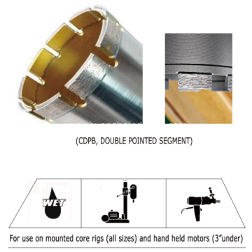Diamond Core Bit (Special Segment )