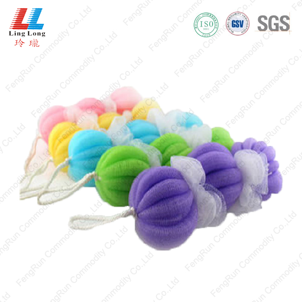 three balls sponge bath belt
