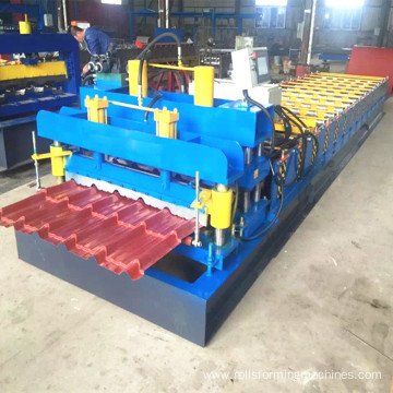 Trapezoidal roof tile glazed forming machine