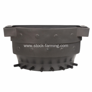 Plastic calf feeding bucket with 8 teats