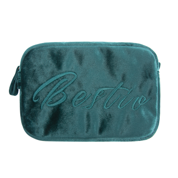 Custom Printed Women Velvet Makeup Cosmetic Bag