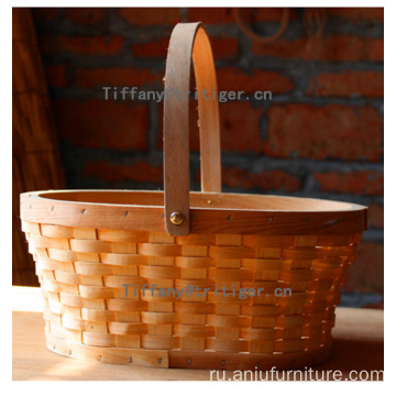 handicraft rectangle wood chip christmas gifts storage basket