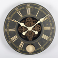 14 Inch Wood Gear Wall Clock