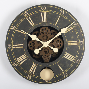 14 Inch Wooden Gear Wall Clocks
