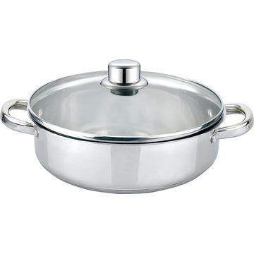 Low casserole with lid