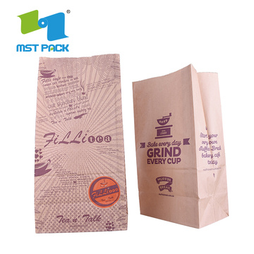 Food Grade Customized Matte Ziplock Bottom paper bag