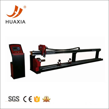 CNC round tube cutting machine plasma cutting