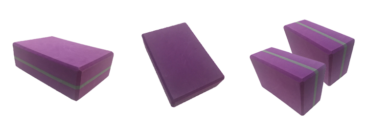purple yoga block