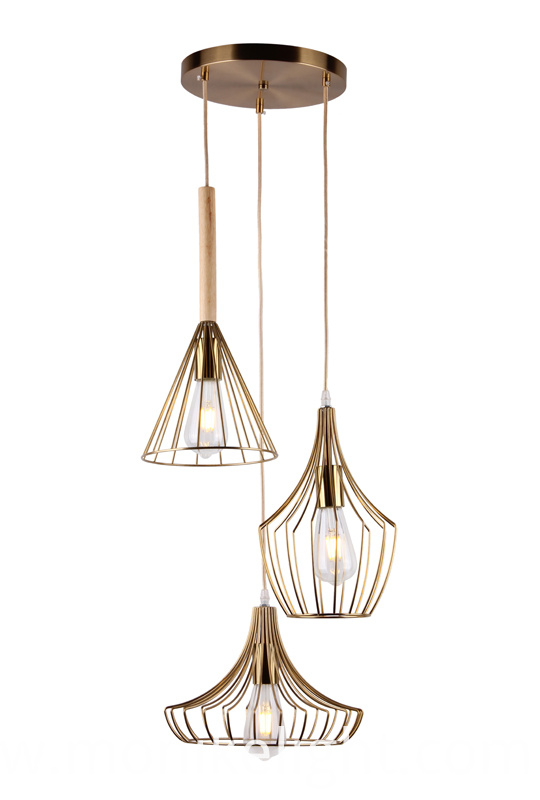 3 Lamps Brass