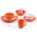 Ornage color dinner set Porcelain and Stoneware