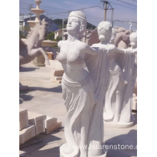G617granite female garden statues