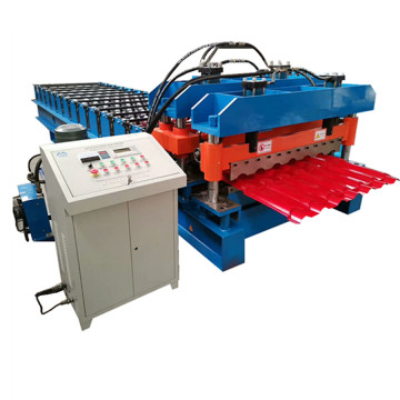 Zinc glazed tile roofing sheet making machine