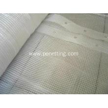 China PE Grid Reinforced Mesh Fabric,PE Transparent Tarpaulin,White