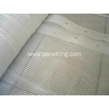 180gsm 3*45m Clear PE Mesh Tarpaulin Scaffold sheeting