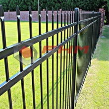 High Quality for Picket Fencing,Pvc Picket Fence,Black Picket Fencing Manufacturers and Suppliers in China Black Decorative Security Steel Picket Palisade Fence export to Germany Supplier