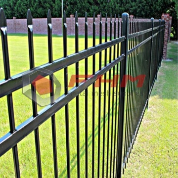 Super Purchasing for for Picket Fencing,Pvc Picket Fence,Black Picket Fencing Manufacturers and Suppliers in China Black Decorative Security Steel Picket Palisade Fence supply to United States Supplier