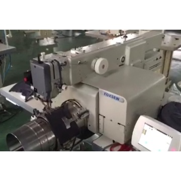 Automatic Curved Visor Pattern Sewing Machine
