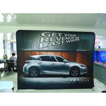 Exhibition Straight Fabric Pop up Banner Booth Stand