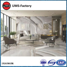 Large format thin porcelain wall tiles