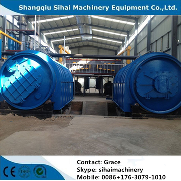 scrap tire pyrolysis plant with high oil yield