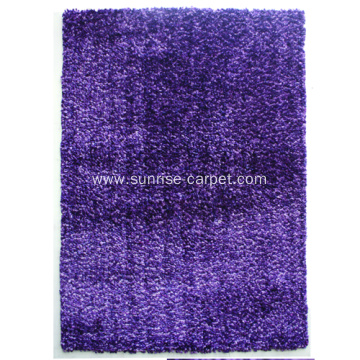 100% Polyester space dyed yarn shaggy rug