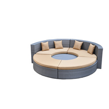 Hot Sale for Garden Outdoor Sofa Round Shape &Special Rattan Sofa Set export to France Factories
