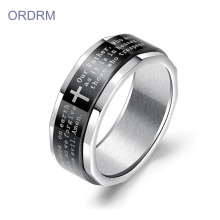 Christian Bible Verse Religious Spinner Rings For Mens
