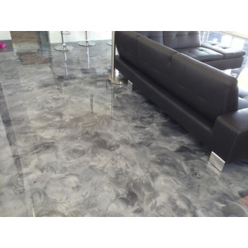 Office metallic epoxy flooring