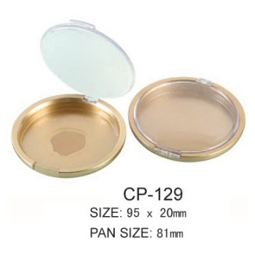 Round Empty Compact Case with Clear Window