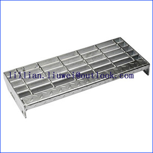 Bolted Fixing Stair Treads Steel Grating