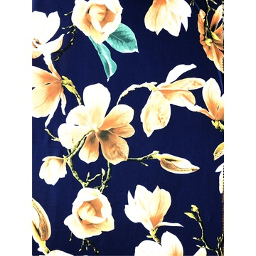 Fashion Paper Printing Polyester DTY Single Jersey Fabric