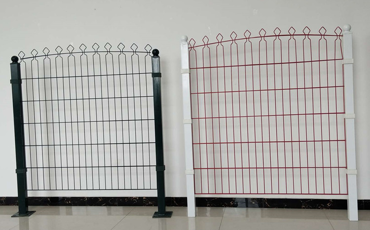 PVC Coated Garden Fence Double Wire Mesh Fence