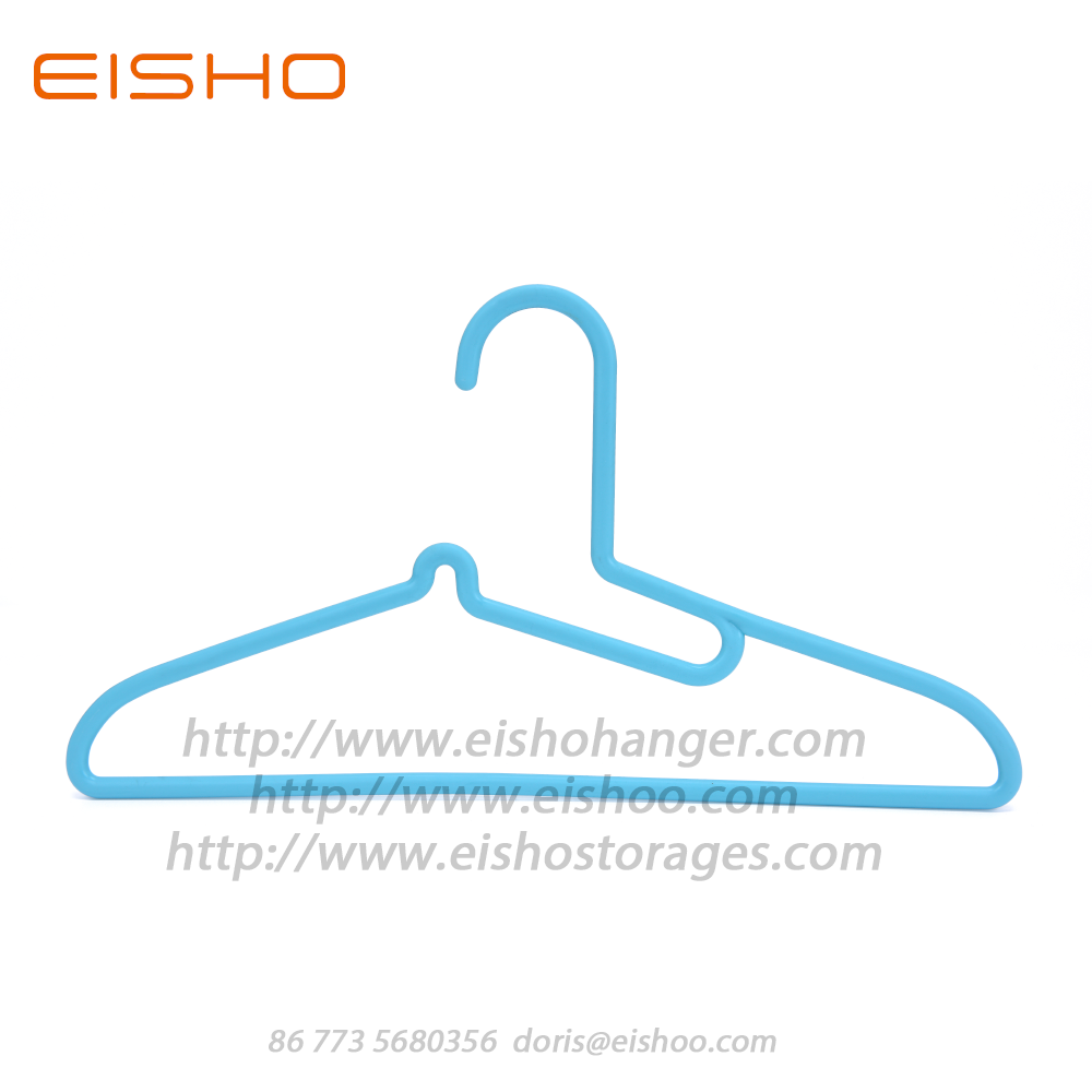 EISHO Heavy Duty Adult Blue Plastic Closet Hangers