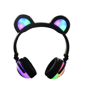 Cuffie per musica wireless Panda Ear con luce a LED