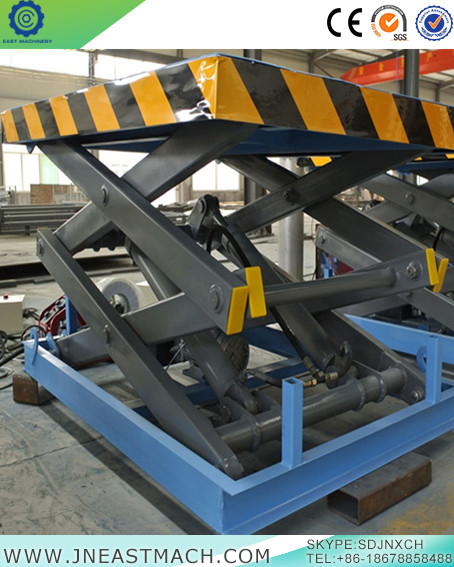 Safe And Practical Hydraulic Double Row Fork Fixed Shear Scissor Lift Platform