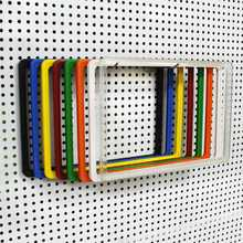 colorful supermarket plastic price board frame
