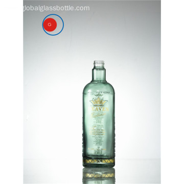 High Shoulder Glass Bottle Printing and Golden Decal