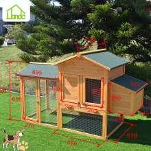 Small popular outside wood chicken cage