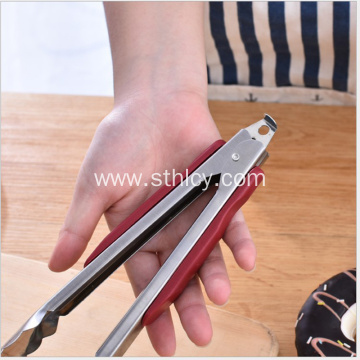 Red Handle Style Stainless Steel Tongs
