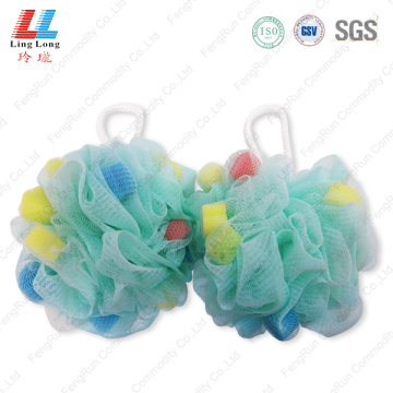 Smooth blotting mesh bath ball